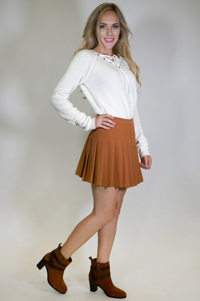 Dana Pleated Mini Skirt