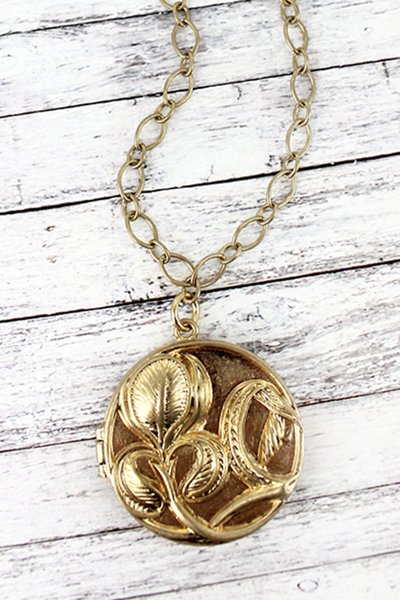 SALE! Crave Goldtone Tulip Locket Necklace