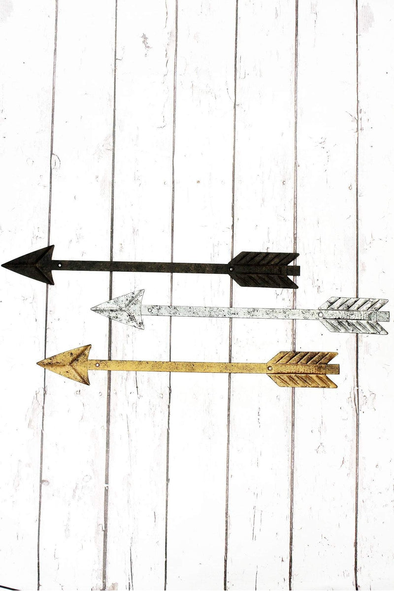 23.5 x 3.25 Metal Arrow Wall Decor 3 Piece Set