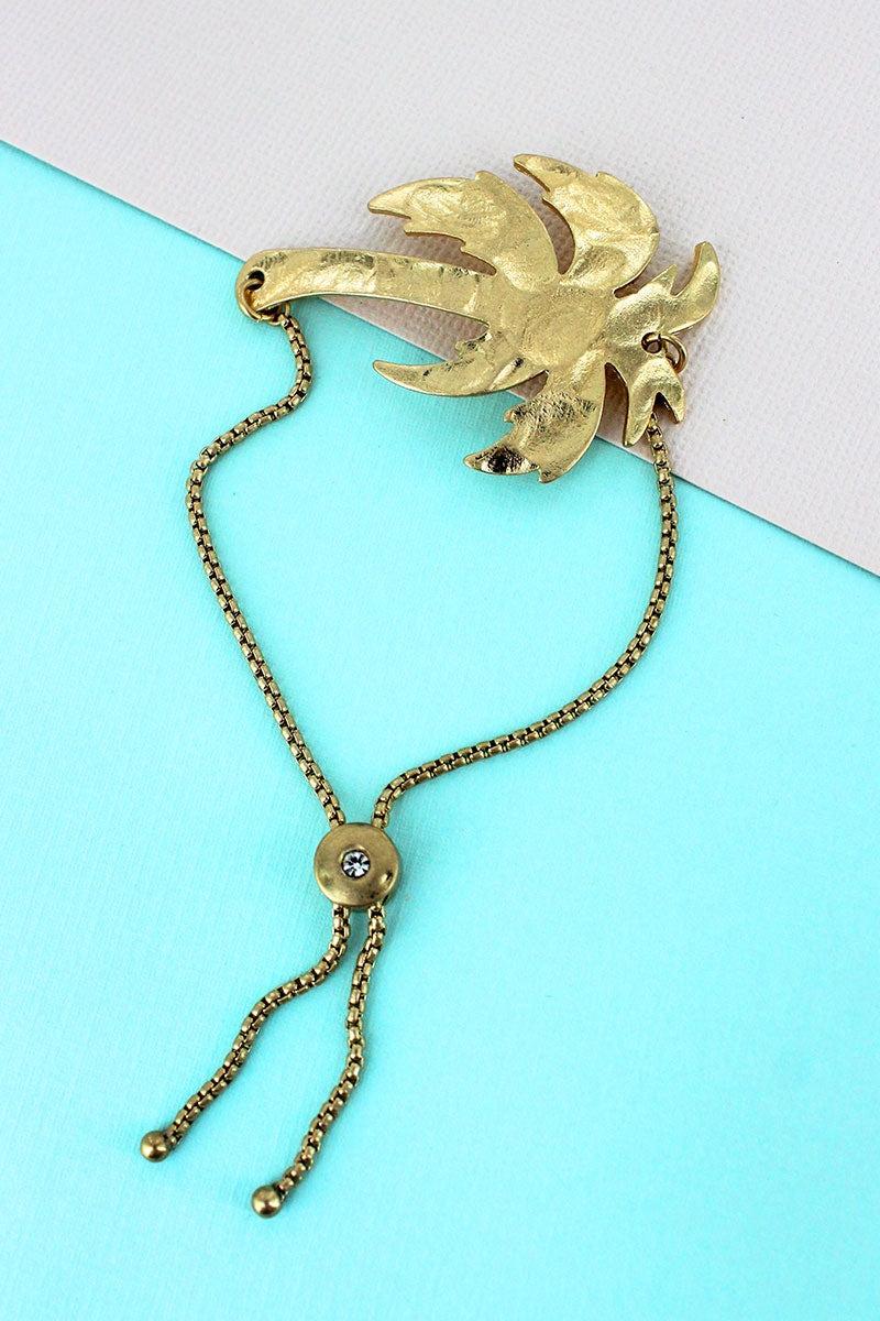 SALE! Crave Goldtone Palm Tree Bolo Bracelet