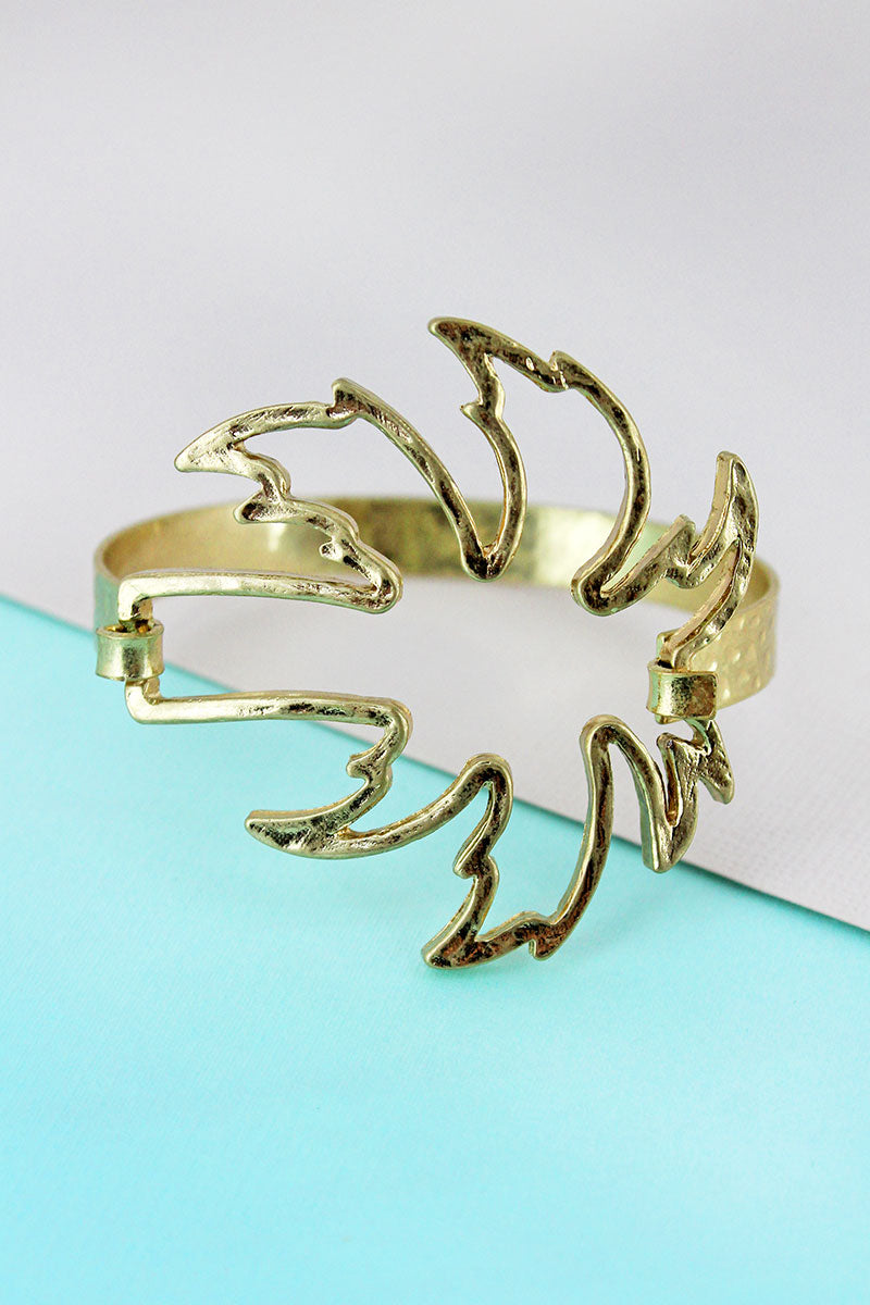 SALE! Crave Goldtone Palm Tree Bracelet