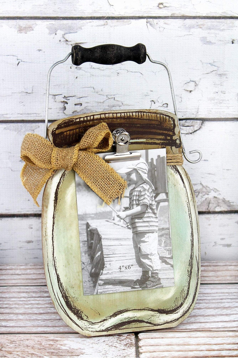 12.5 x 7.5 Mason Jar Wood 4x6 Photo Display