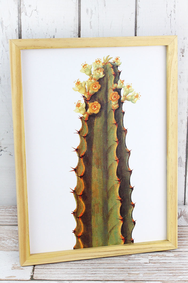 16 x 12 Cactus Blooms Wood Framed Art