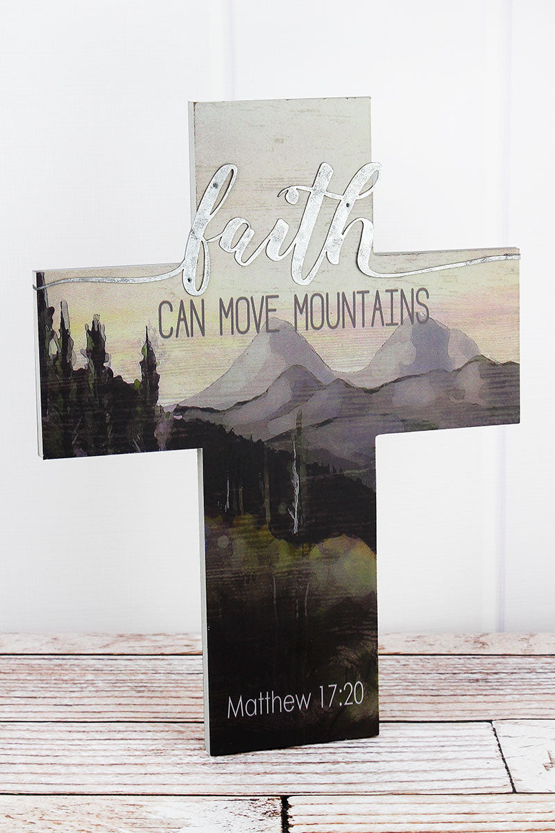 16 x 12.25 'Faith Can Move Mountains' Wall Cross