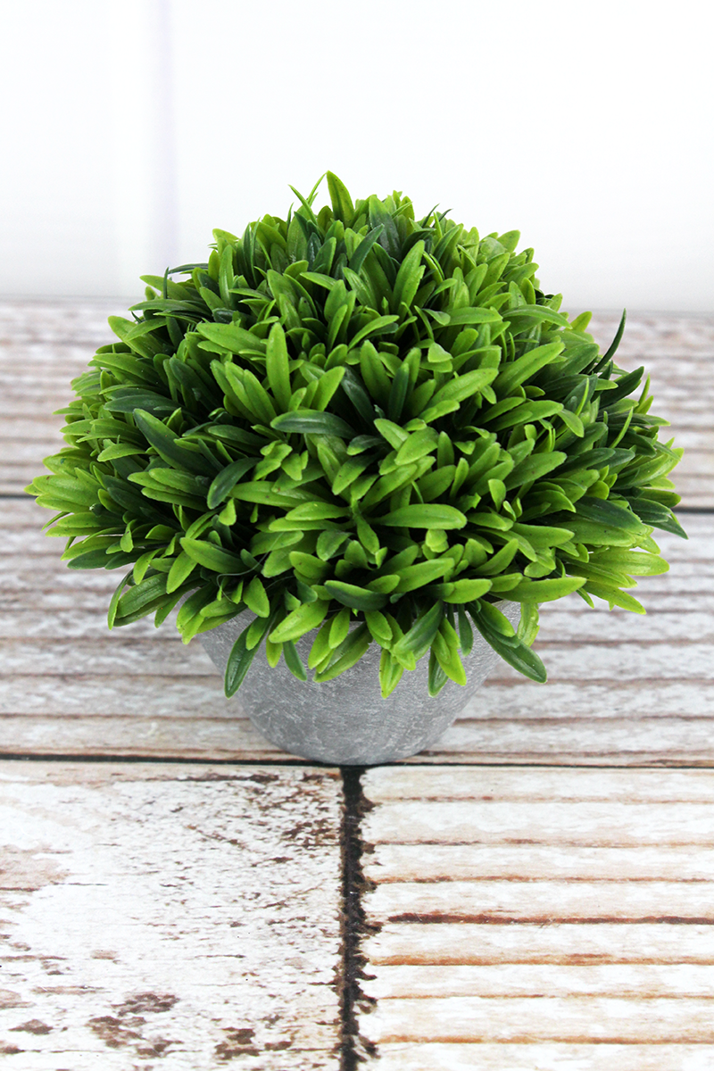 Artificial Potted Topiary, 4.25""