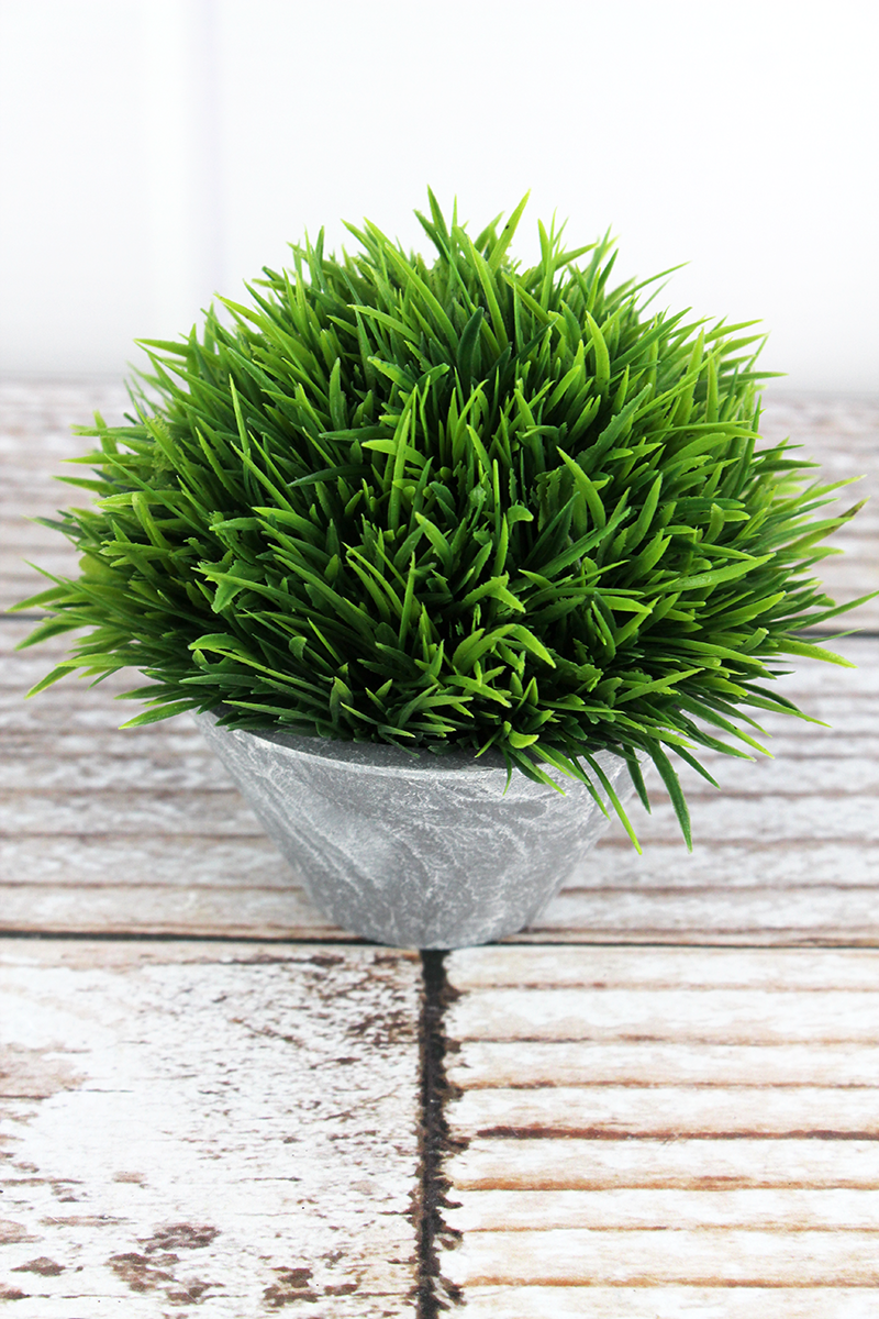 Artificial Potted Grass, 4.25""
