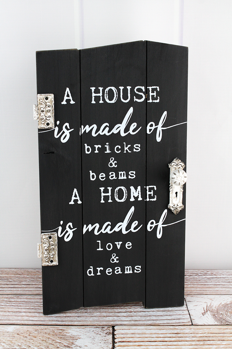 19 x 10.5 'A House A Home' Distressed Hanging Door