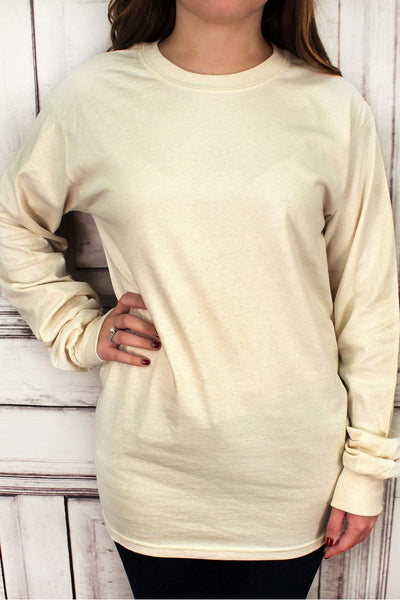 Shades of Brown Ultra Cotton Adult Long Sleeve T-Shirt #2400 *Personalize It!