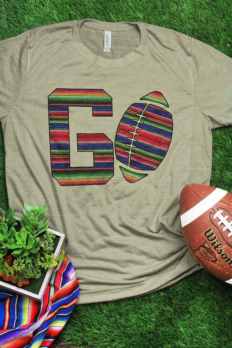 Serape Football GO Unisex Short Sleeve Tee