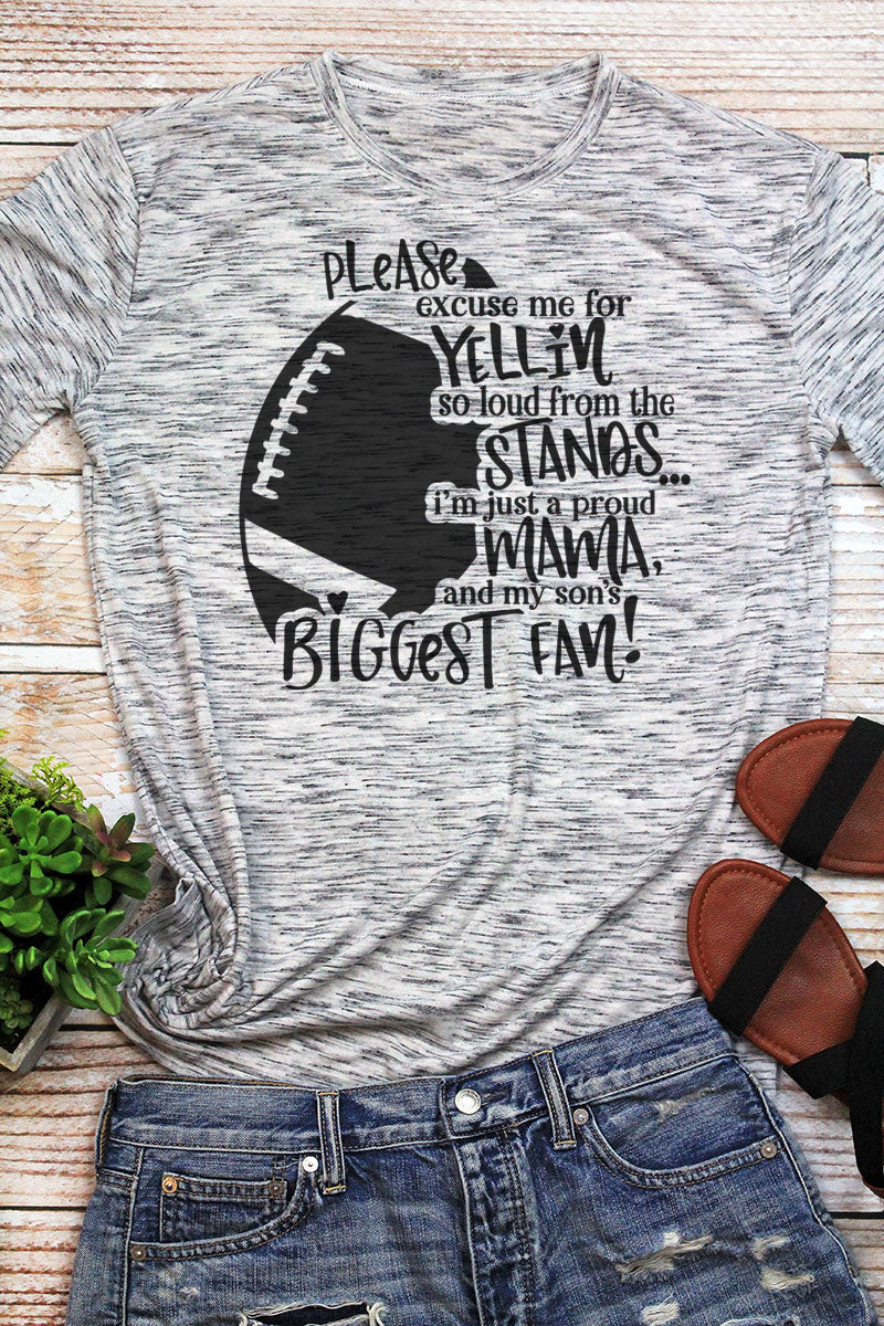 Biggest Fan Football Unisex White Marble Short Sleeve Tee