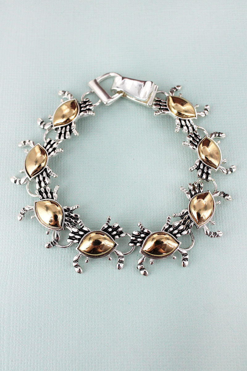 Two-Tone Crab Magnetic Bracelet
