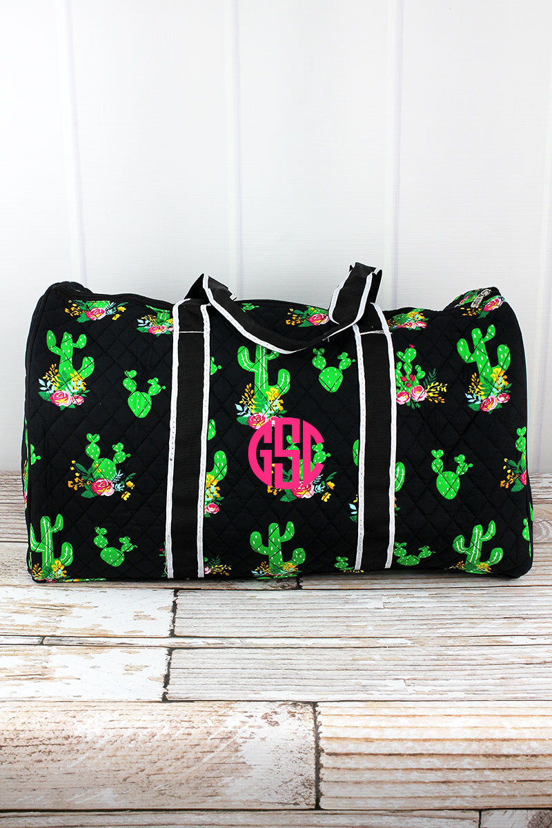 NGIL Cactus Garden Quilted Duffle Bag 21""