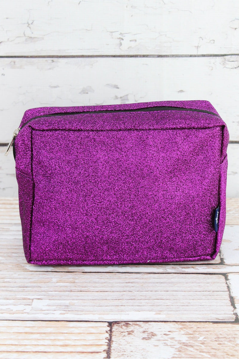 NGIL Purple Glitz & Glam Cosmetic Case