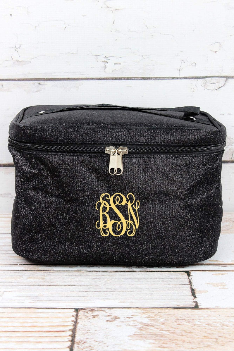 NGIL Black Glitz & Glam Train Case