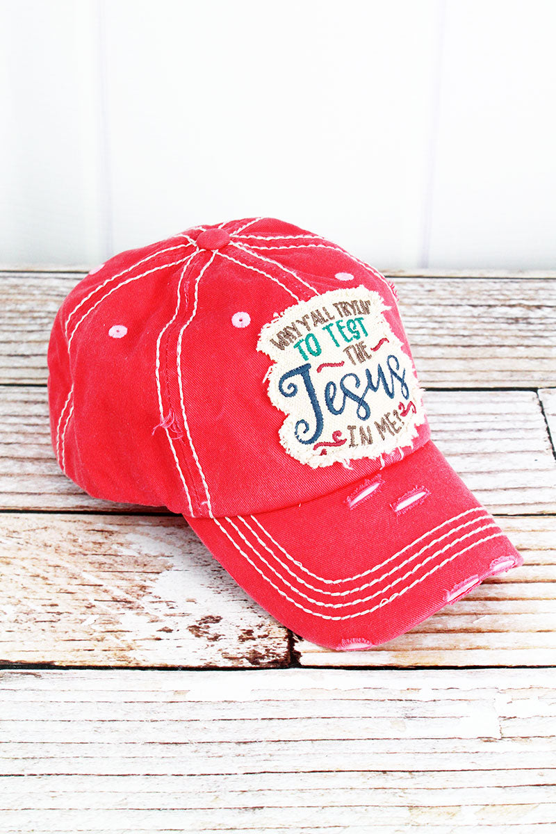 Distressed Salmon 'The Jesus In Me' Cap