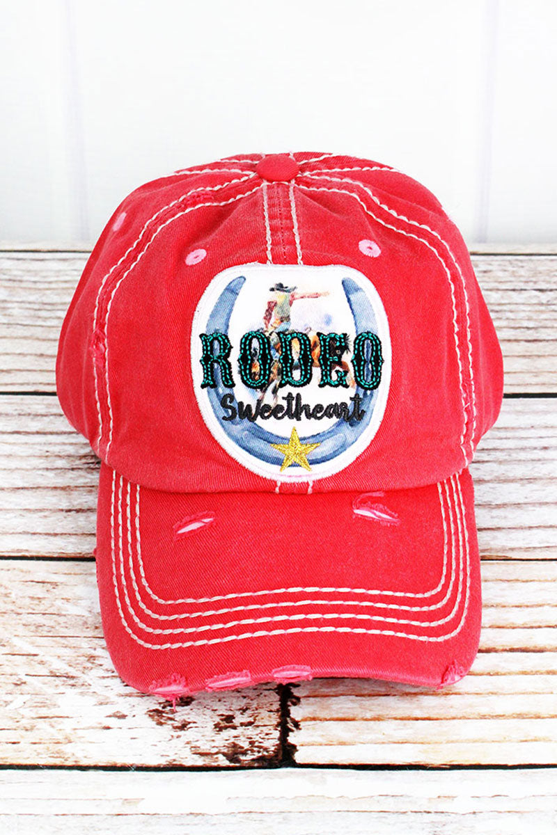 Distressed Salmon 'Rodeo Sweetheart' Cap
