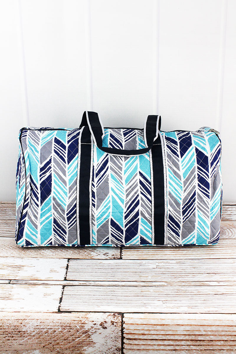 NGIL Seaside Stripes Quilted Duffle Bag 21""