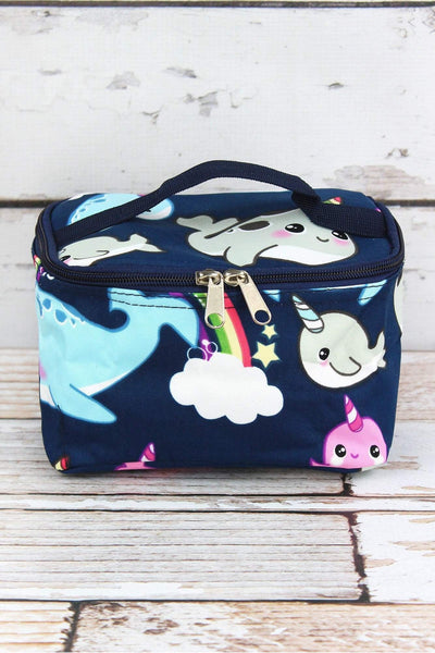 NGIL Narwhal Whimsy Case with Navy Trim