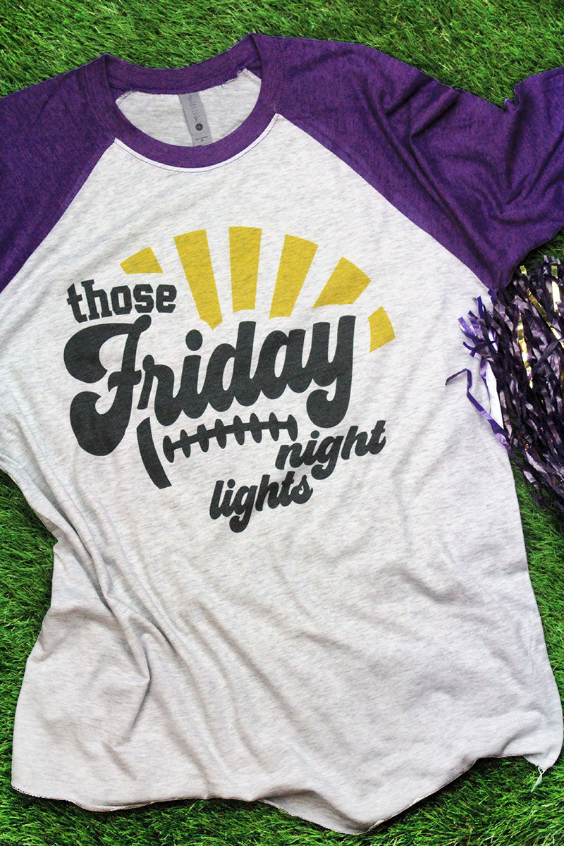 Those Friday Night Lights Tri-Blend Unisex 3/4 Raglan