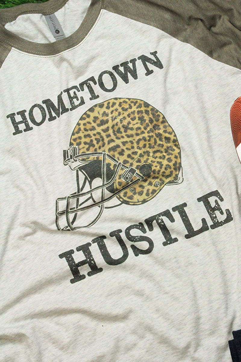Hometown Hustle Tri-Blend Unisex 3/4 Raglan