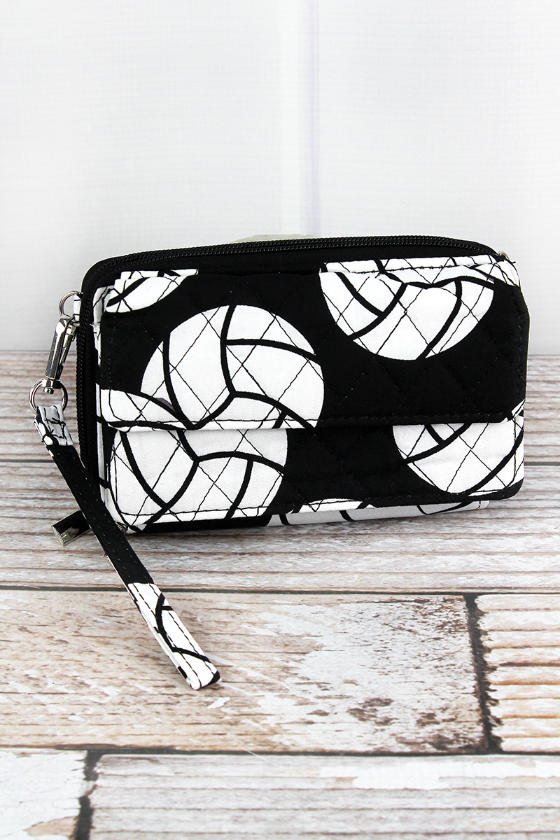 NGIL Volleyball Quilted Crossbody Organizer Clutch