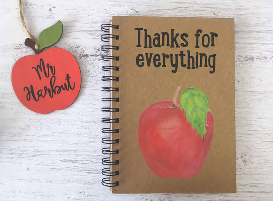 Kraft Lined Notepad -  Apple Thanks for Everything  - DD674