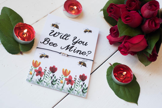 A6 Postcard Print Will You Bee Mine? Valentines Day - DD249