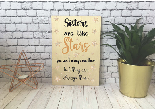 Wooden Print - Sisters Are Like Stars - DD537