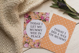 Bright Floral Alternative Baby Journey Cards ® DD021