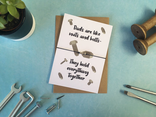 A6 postcard print - Dads Are Like Nuts & Bolts - DD525