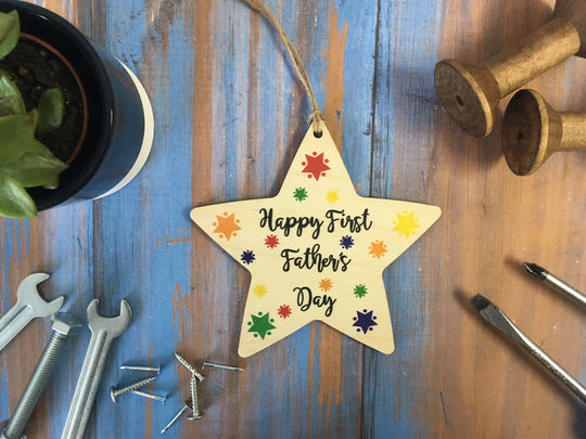 Hanging Star - Happy First Fathers Day - DD421