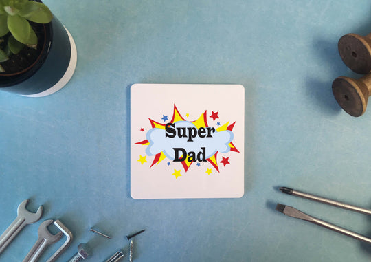 Personalised Coaster - Super Dad - DD528