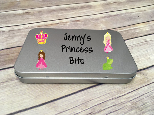 Personalised Metal Tin - Princess DD295