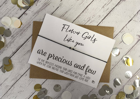 Wish Bracelet - Flower Girls Like You Are Precious And Few  DD1067