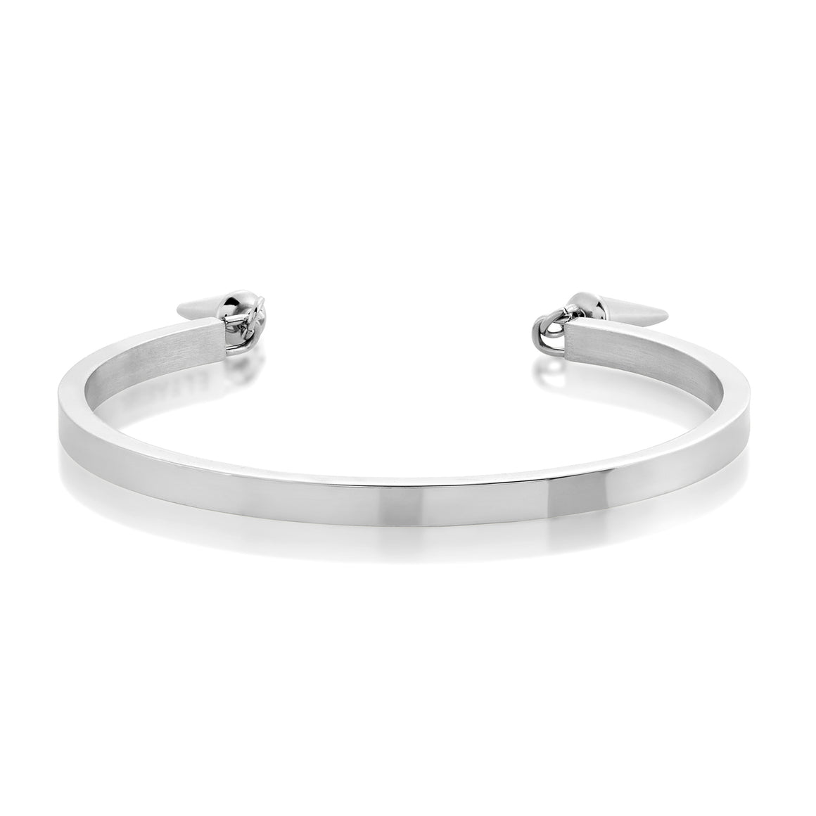 ELYA Women's High Polish Cone Charms Stainless Steel Cuff Bracelet