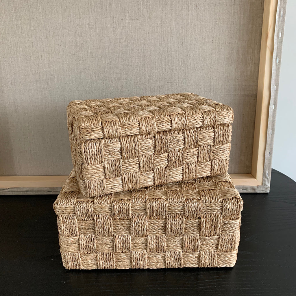 NATURAL ABACA ROPE BOX