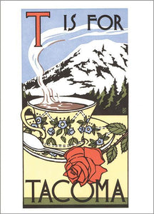 T is for Tacoma Note Card