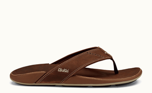 Olukai Nui Leather Men's Sandal - Rum/ Rum SURF WORLD