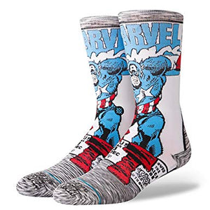 Stance Captain America Comic Socks (Large 9-12) SURF WORLD