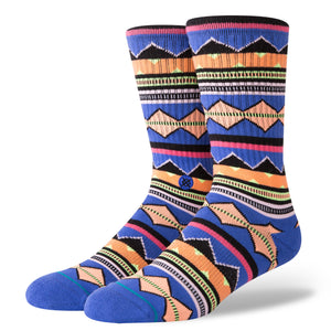 Stance Kern Socks - Multi - Navy - Size 9 -12 SURF WORLD