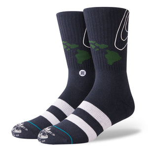 Stance Swell John John Florence Socks (Large 9-12) - Navy SURF WORLD