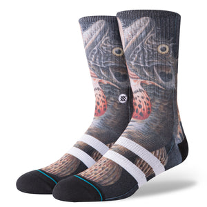 Stance Taylor Creek Fish Socks (Large 9-12) - Black SURF WORLD