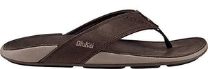 Olukai Nui Mens Leather Sandals - Espresso/ Espresso SURF WORLD