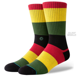 Stance Matal Rasta Color Socks (Large 9-12) - Multi Color SURF WORLD