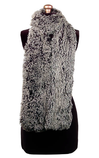 Classic Scarf - Fox Faux Fur Standard / Silver Tipped Fox in Black Scarves Pandemonium Millinery