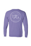 Women's Texas Pure Badge Long Sleeve Tee - Violet - Back