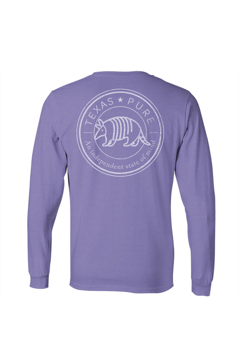 Women's Texas Pure Badge Long Sleeve Tee - Gulf Coast Blue - Back