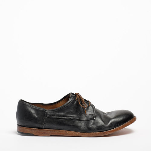 Boyd Laced Mid Shoes natural soft leather black