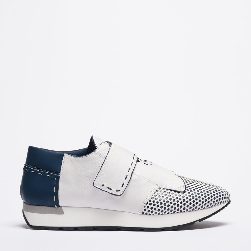 Stratos white-blue sneakers