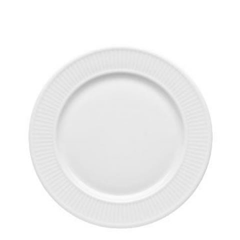 French Pillivuyt - white porcelain Plisse plates, 212228 BL, 871638000942